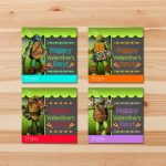 Teenage Mutant Ninja Turtle Valentine's Day Cards | Etsy | Teenage Mutant Ninja Turtles Printable Valentines Day Cards