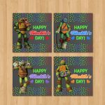 Teenage Mutant Ninja Turtles Valentine's Day Cards | Etsy | Teenage Mutant Ninja Turtles Printable Valentines Day Cards