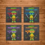 Teenage Mutant Ninja Turtles Valentine's Day Cards Ninja | Etsy | Teenage Mutant Ninja Turtles Printable Valentines Day Cards