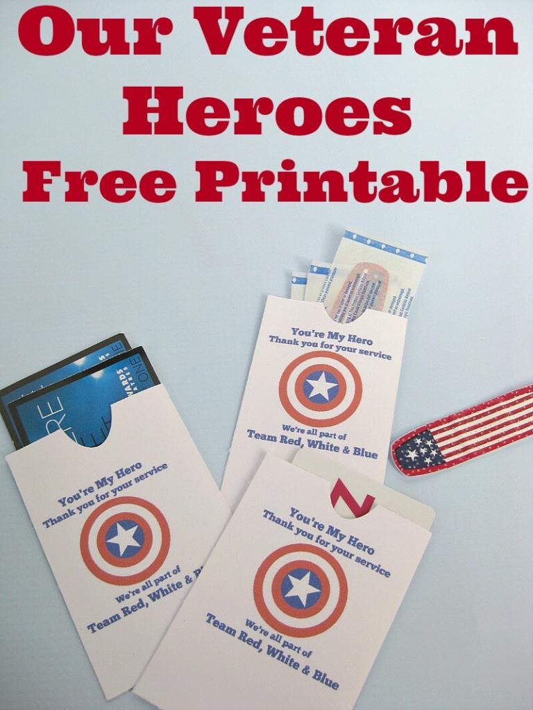 Thank A Veteran Cards Free Printable - Organized 31 | Military Thank You Cards Free Printable