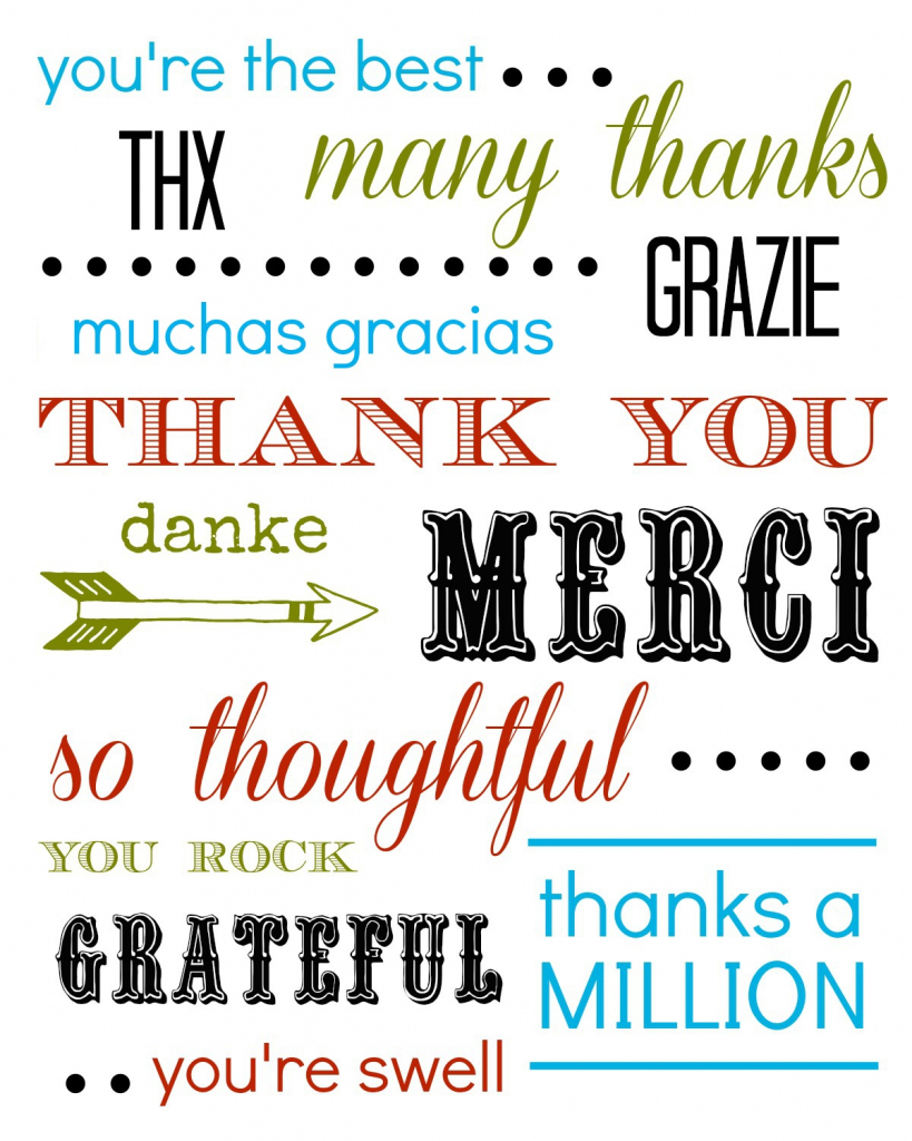 Thank You Card Free Printable | Free Printable Thank You Cards
