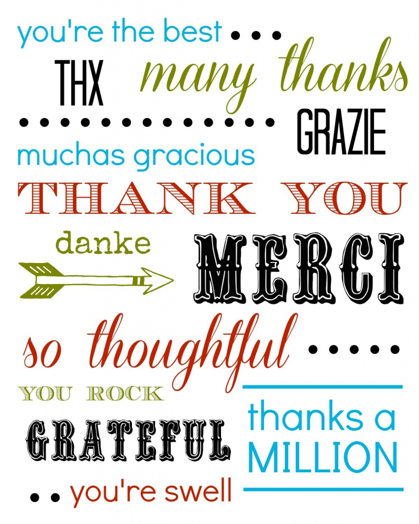 Thank You Card Free Printable | Printables And Quotes | Writing | Printable Thank You Cards For Employees