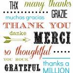 Thank You Card Free Printable   Thank You Card Free Printable Template