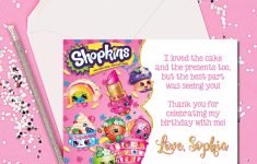 Thank You Cards Shopkins Thank You Cards Shopkins Thank You | Etsy | Free Printable Shopkins Thank You Cards