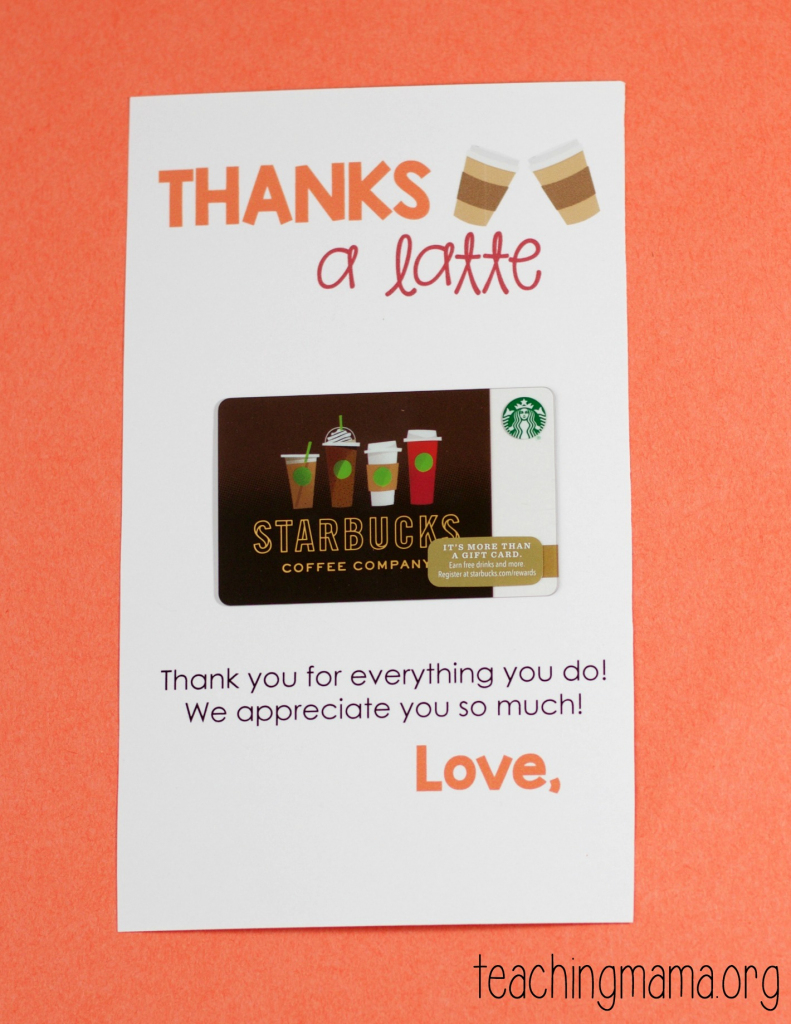 Thanks A Latte Free Printable Card | Free Printables | Thanks A Latte Free Printable Card