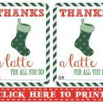 Thanks A Latte Free Printable | Thanks A Latte Free Printable Card