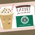 Thanks A Latte Gift Card Holder Printable Teacher Gift | Etsy | Thanks A Latte Free Printable Card
