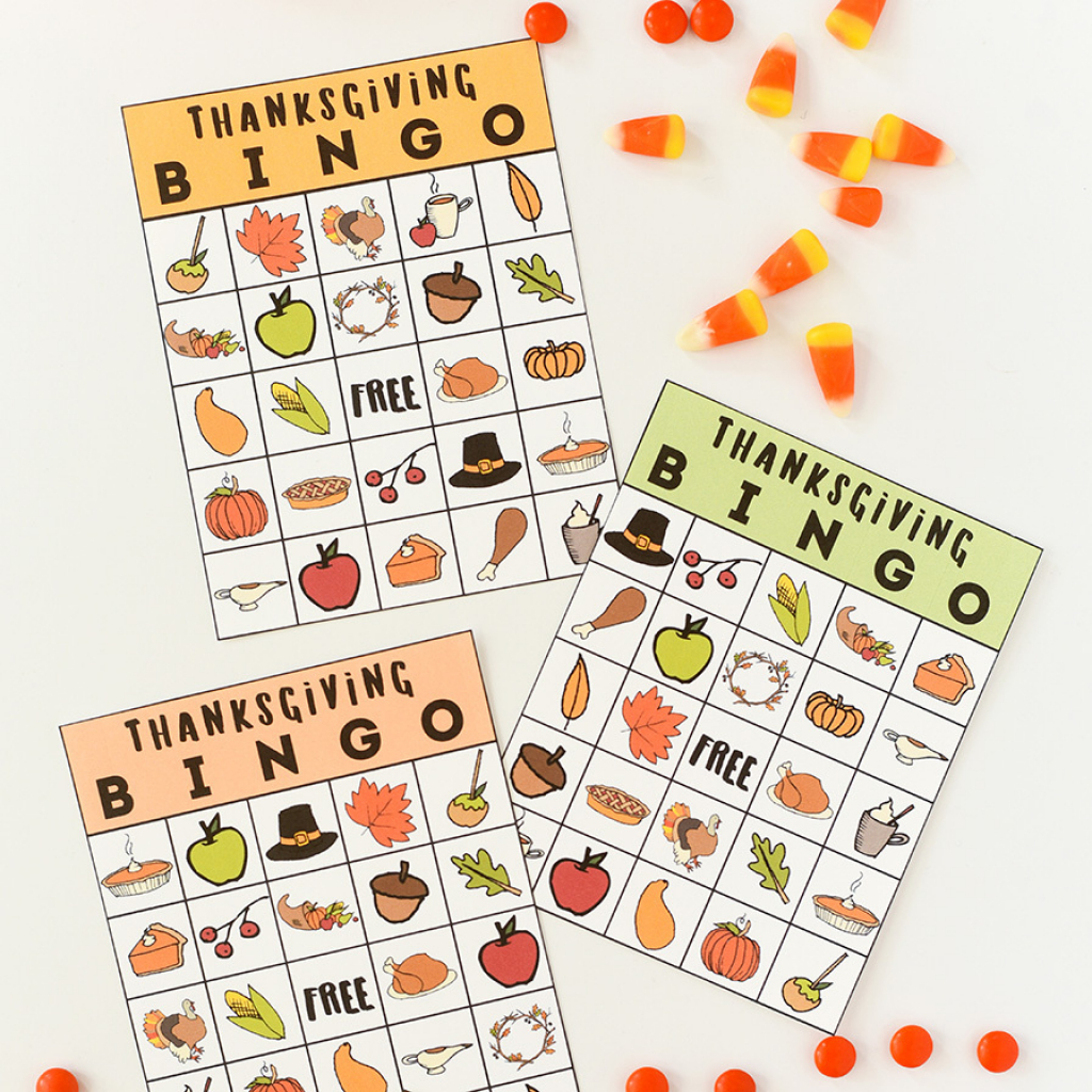 Thanksgiving Bingo Printable | Turkey Bingo Cards Printable