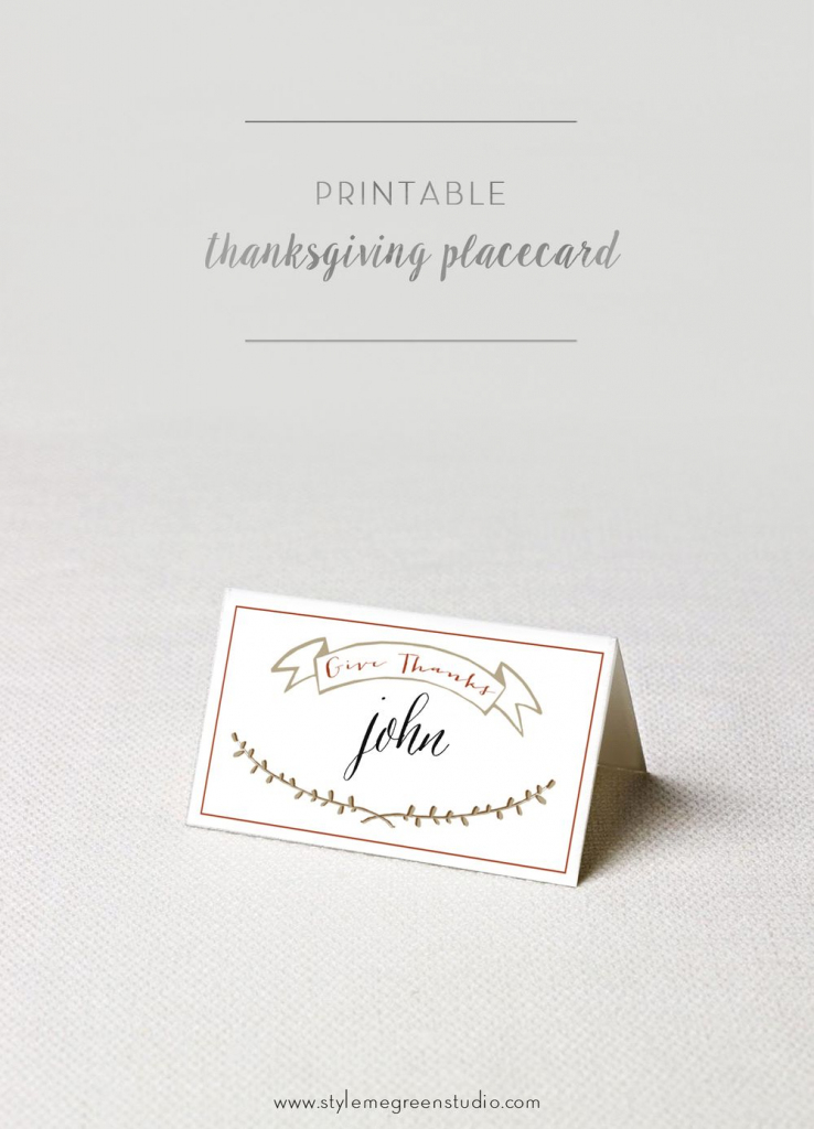 Thanksgiving Place Cards Free Printable | Autumn Leaves Driftmy | Free Printable Place Cards