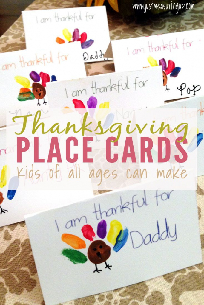 Thanksgiving Place Cards That Kids Can Make - Free Printable | Diy | Printable Thanksgiving Place Cards For Kids