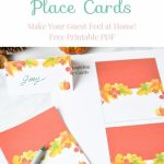 "Thanksgiving Table Place Cards Free Printable | ""the Pinterest Group 