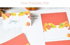 Printable Thanksgiving Place Cards For Kids