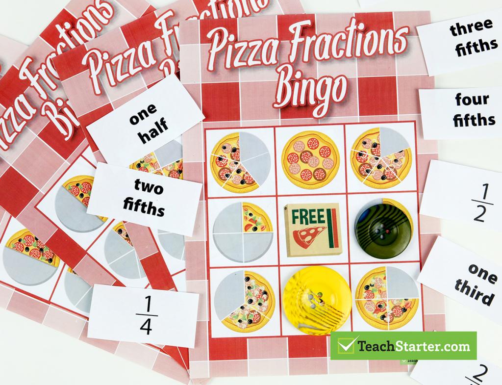 The 10 Best Primary School Classroom Bingo Games! - Fraction Bingo | Fraction Bingo Cards Printable Free