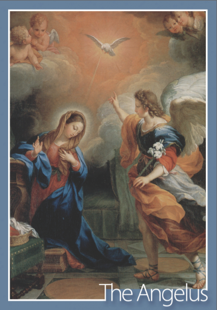The Angelus Project: A Printable Angelus Card | Angelus Prayer Card Printable