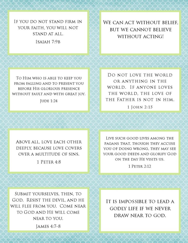 The Blogging Pastors Wife: Printables - Verse Cards, Verse Art, And | Printable Bible Verse Cards