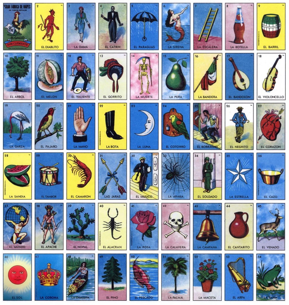 The Classic Loteria Cards. Tm & © Don Clemente / Pasatiempos Gallo | Printable Loteria Game Cards