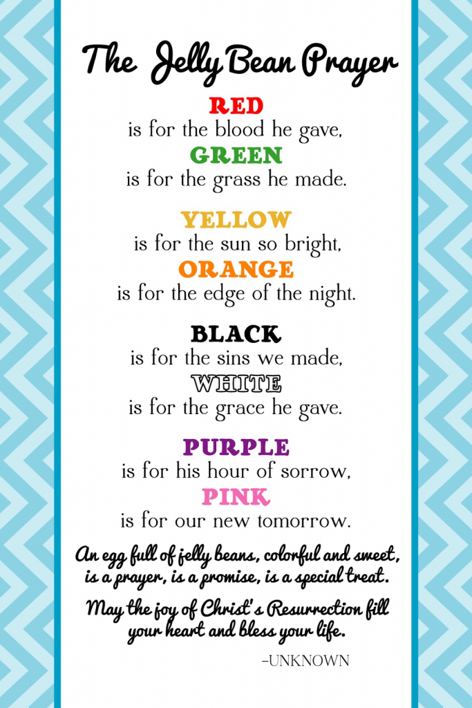 The Creative World Of Great Day Graphics & Design: Free Printable   Jelly Bean Prayer Printable Cards