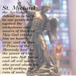 The Dedication Of St. Michael The Archangel | St Michael Prayer Card Printable