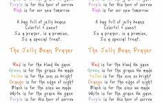 Jelly Bean Prayer Printable Cards