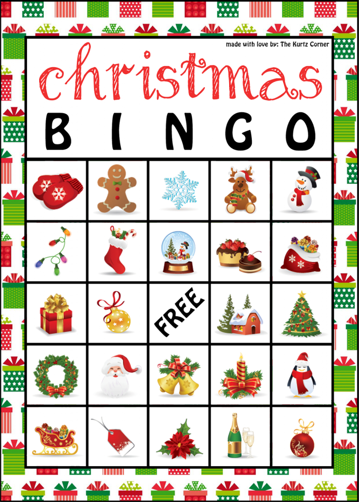 The Kurtz Corner: Free Printable Christmas Bingo Cards | Winter / X | Free Printable Bingo Cards For Large Groups