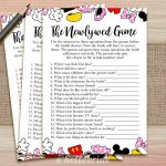 The Newlywed Game What Did The Groom Say Printable Disney | Etsy | Printable Newlywed Game Cards