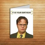 The Office Birthday Card Office Tv Show Cards Printable It Is | Etsy | The Office Printable Birthday Card