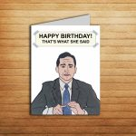 The Office Card Michael Scott Birthday Card For Boyfriend Gift | Etsy | The Office Printable Birthday Card