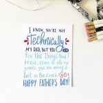 The Perfect Father's Day Card For Your Stepdad, Grandpa, Adopted Dad | Printable Step Dad Fathers Day Cards
