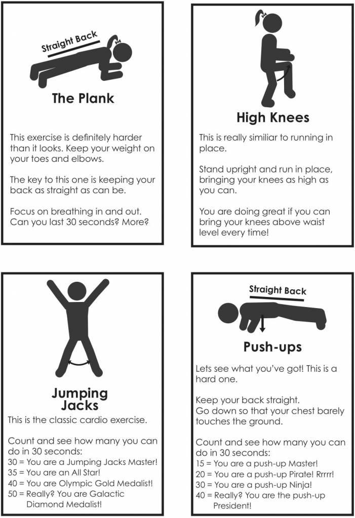 The Wheel Of Fitness: Great Activities- Pe Matters Free Activity | Printable Fitness Station Cards