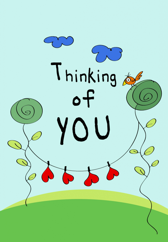 Thinking Of You - Love Card (Free) | Greetings Island | Free Printable Funny Thinking Of You Cards