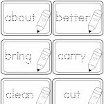 Third Grade Dolch Sight Words Tracing Flashcards | A To Z Teacher | 2Nd Grade Sight Words Printable Flash Cards