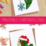 This Fun Printable Parrot Christmas Card Is Available For Instant | Funny Printable Christmas Cards