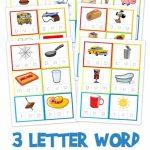 Three Letter Word Cards ~ Free Printable | Kindergarten Stuff | 3 | Nonsense Word Flash Cards Printables