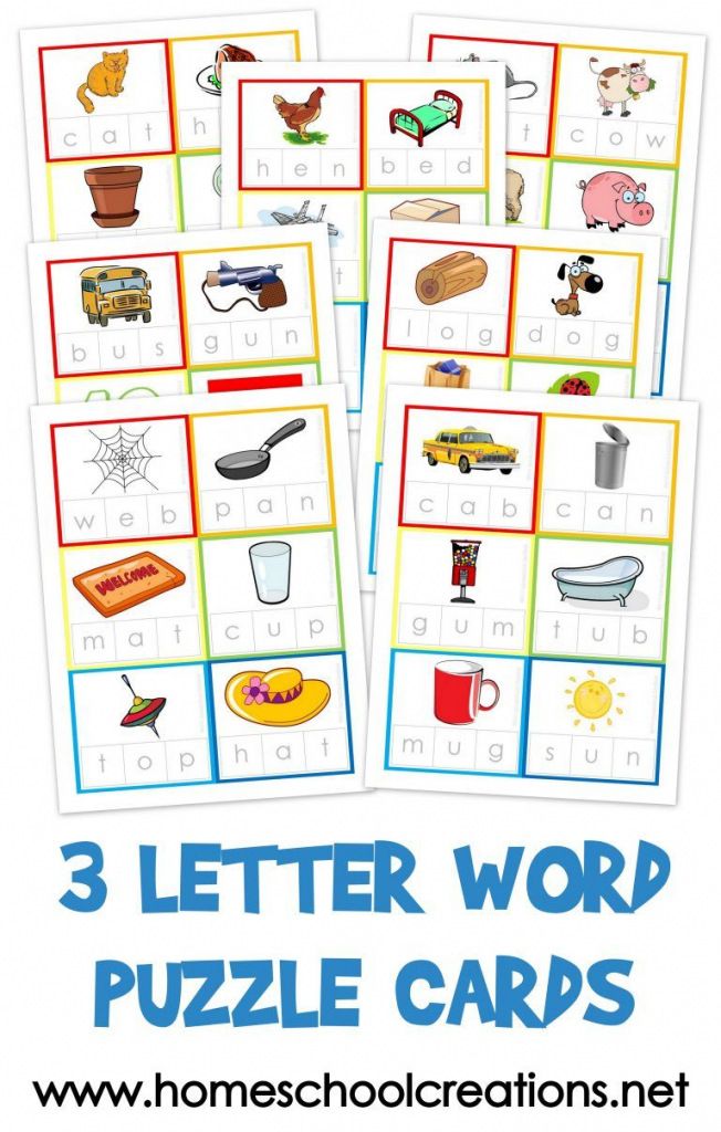 Three Letter Word Cards ~ Free Printable | Kindergarten Stuff | 3 | Printable Cvc Word Cards