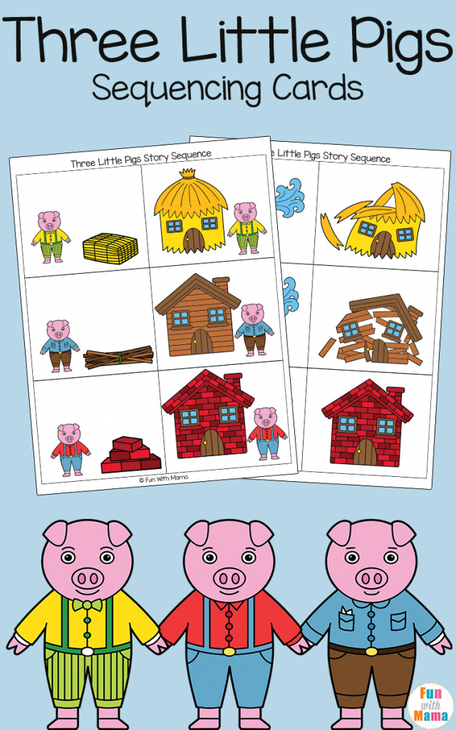 Three Little Pigs Sequencing Cards - Fun With Mama | Free Printable Sequencing Cards