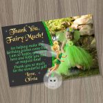 Tinkerbell Thank You Card Fairy Thank You Card Tinkerbell | Etsy | Printable Tinkerbell Thank You Cards
