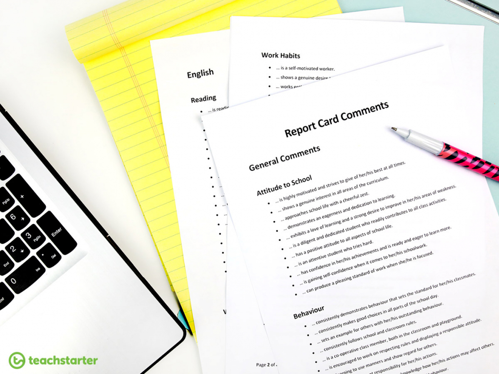 Tips And Ideas To Make Writing Report Card Comments Easier. | Free Printable Report Card Comments