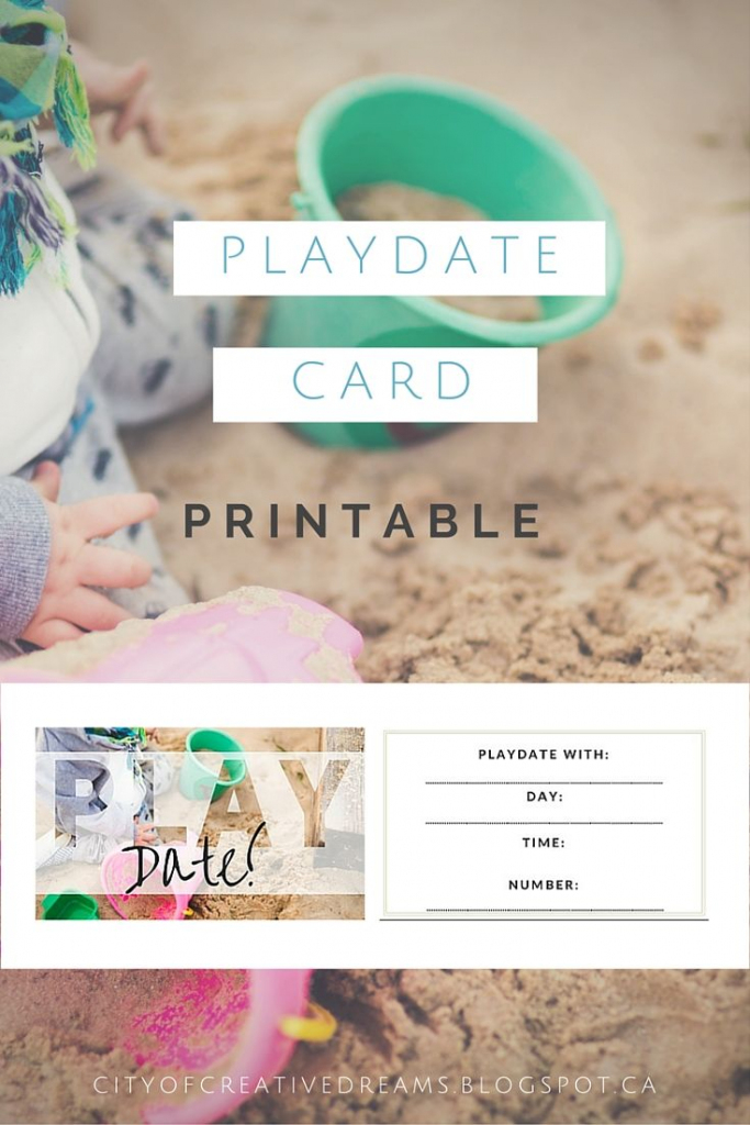 Too Cute Playdate Cards Printable! Via @ City Of Creative Dreams | Free Printable Play Date Cards