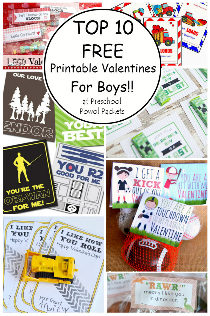Top 10 {Free} Printable Valentines Cards For Boys! | Preschool Powol | Free Printable Football Valentines Day Cards