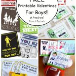 Top 10 {Free} Printable Valentines Cards For Boys! | Preschool Powol | Free Printable Valentine Cards For Preschoolers