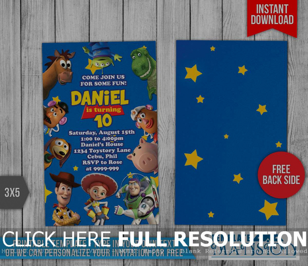 Toy Story Invitations Printable Free - Canas.bergdorfbib.co | Toy Story Birthday Card Printable Free