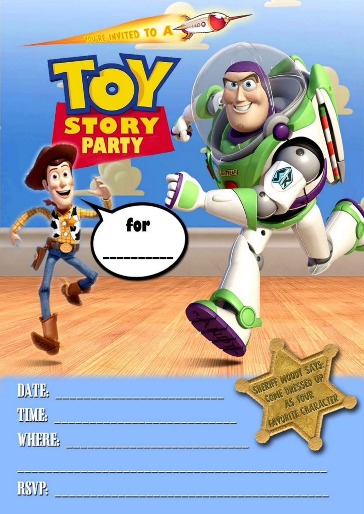 Toy Story Invitations Template Free - Under.bergdorfbib.co | Toy Story Birthday Card Printable Free