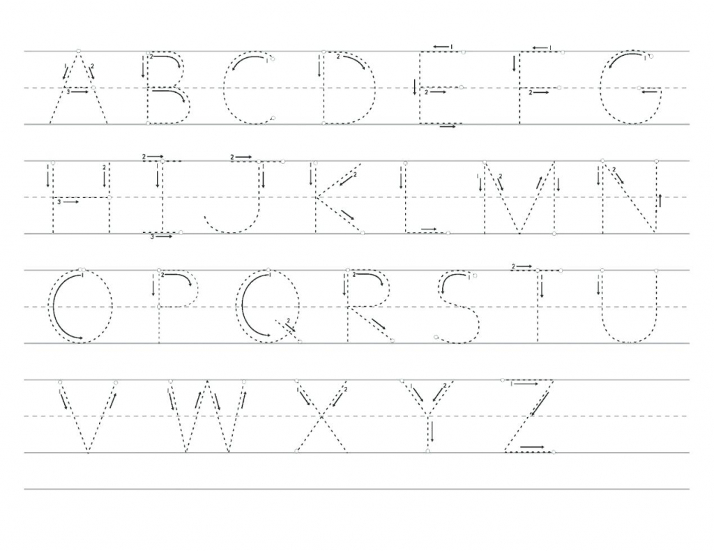 Traceable Printable Alphabet Letter Tracing Worksheets | Www | Printable Alphabet Tracing Cards