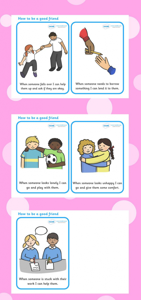 Twinkl Resources >> How To Be A Good Friend Cards >> Printable | Printable Friendship Cards Friends