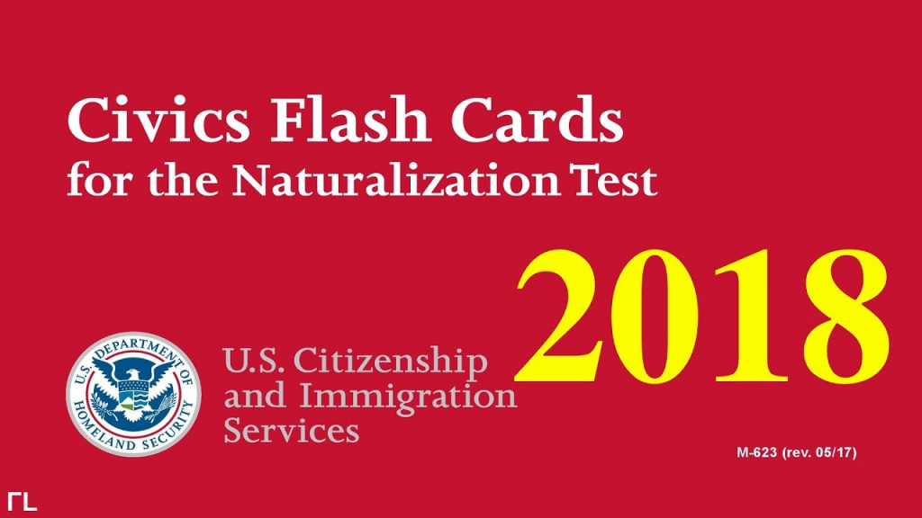 Us Citizenship Naturalization Test 2018 (Official 100 Test Questions | Us Citizenship Flash Cards Printable