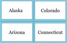 States And Capitals Flash Cards Printable