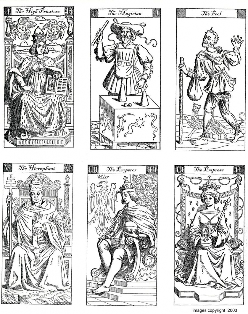 Vacchetta Tarot Deck - To Print And Colour | Digital Downlaod Sites | Printable Tarot Cards To Color