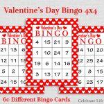 Valentine Bingo Game 60 Printable Valentine's Bingo | Etsy | Printable Bingo Cards 1 75