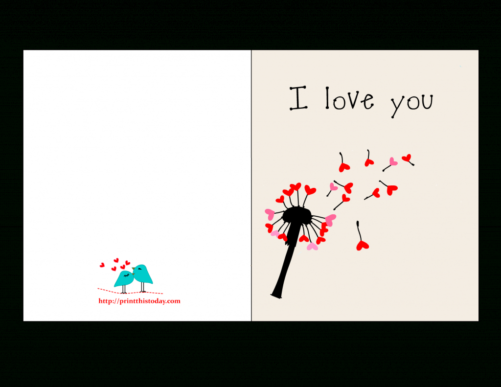 Valentine Cards For Him | Printable Love Birthday Cards For Him