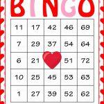 Valentine's Bingo Cards   Printable Download   Prefilled   Printable Valentine Bingo Cards With Numbers